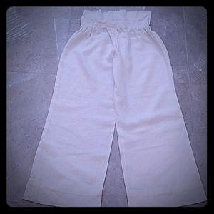 bebe Linen Wide Leg Pants